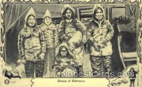 epr001051 - Group of Eskimos Exploration Postcard Post Card