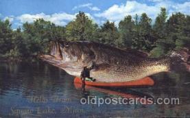 exa000148 - Squaw Lake Minn. USAExaggeration Postcard Post Card