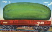 exa000169 - Big Watermelon Exaggeration Postcard Post Card