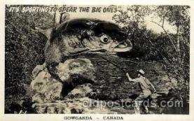 exa001127 - Gowganda CanadaGowganda Canada,  Exaggeration Postcard Post Card
