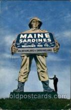 exa002025 - Maine Sardines, Exaggeration Postcard Post Card