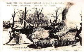 exa002259 - Uncle Hod & Cousin Purnell Van Buren, Arkansas, USA Postcards Post Cards Old Vintage Antique