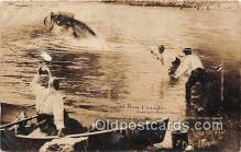 exa002260 - Bass I Caught 1909 WH Martin Postcards Post Cards Old Vintage Antique