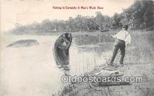 exa002359 - Fishing  Postcards Post Cards Old Vintage Antique