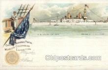 exp000016 - Battle ship Illinois World's Columbian Expostion Old Vintage Antique Postcard Post Card