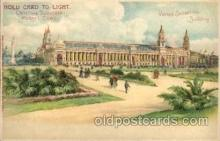 exp020008 - Hold To Light, Official Souvenier, St. Louis World's Fair Exposition 1904, Postcard Post Card