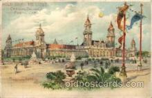 exp020012 - Postcard Has Worlds Fair Cancelation, Hold To Light, Official Souvenier, St. Louis World's Fair Exposition 1904, Postcard Post Card