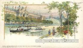 exp020044 - Main Lagoon St. Louis Exposition 1904 Worlds Fair Postcard Post Card