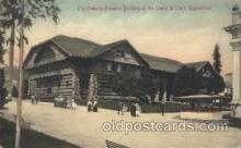 exp030024 - Forestry Building 1917 Lewis & Clark Centennial Exposition, Postland, Oregon USA Postcard Post Card