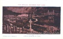 exp030033 - Night Scene on the Trail 1926 Lewis & Clark Centennial Exposition, Postland, Oregon USA Postcard Post Card