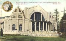 exp050081 - End Elevation, Manufacturers Building 1909 Alaska - Yukon Pacific Exposition Seattle Washington, USA Postcard Post Card