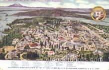 exp050096 - Birds Eye View 1909 Alaska - Yukon Pacific Exposition Seattle Washington, USA Postcard Post Card