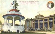 exp050120 - Band Stand and End of Forestry Building 1909 Alaska - Yukon Pacific Exposition Seattle Washington, USA Postcard Post Card
