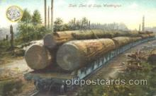 exp050176 - Train Load of Logs, Washington, USA 1909 Alaska - Yukon Pacific Exposition Seattle Washington, USA Postcard Post Card