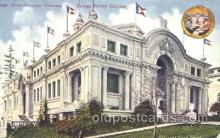 exp050195 - Front Elevation European Foreign Exhibit Building 1909 Alaska - Yukon Pacific Exposition Seattle Washington, USA Postcard Post Card