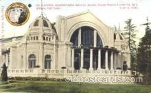 exp050218 - End Elevation Manufactures Building 1909 Alaska - Yukon Pacific Exposition Seattle Washington, USA Postcard Post Card