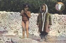 exp050220 - Igorotte baby and Eskimo baby 1909 Alaska - Yukon Pacific Exposition Seattle Washington, USA Postcard Post Card