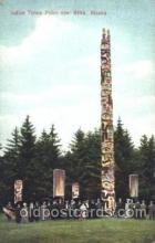 exp050252 - Totem Poles 1909 Alaska - Yukon Pacific Exposition Seattle Washington, USA Postcard Post Card