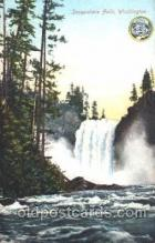 exp050263 - Snoqualmie Falls 1909 Alaska - Yukon Pacific Exposition Seattle Washington, USA Postcard Post Card
