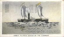 exp060013 - Artist Robert Fulton, Hudson - Fulton 1909 Celebration Exposition Postcard Post Card