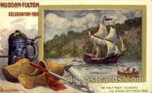 exp060090 - The half moon ascending Hudson Fulton Celebration Expostion 1909 Postcard Post Card