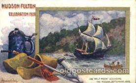 exp060091 - The half moon ascending Hudson Fulton Celebration Expostion 1909 Postcard Post Card