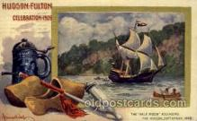 exp060093 - The half moon ascending Hudson Fulton Celebration Expostion 1909 Postcard Post Card