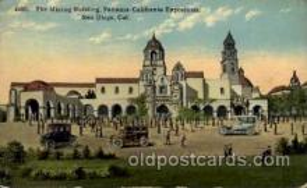 exp070039 - Panama - California Exposition, San Diego 1915, Postcard Post Card