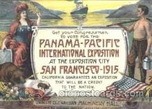 exp080154 - 1915 Panama International Exposition, San Francisco, California USA Postcard Post Card