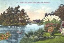 exp080155 - Stow Lake, Golden Gate Park 1915 Panama International Exposition, San Francisco, California USA Postcard Post Card