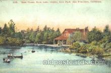 exp080161 - Boat House, Stow Lake, Golden Gate Park 1915 Panama International Exposition, San Francisco, California USA Postcard Post Card