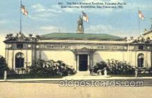exp080179 - New Zealand Pavilion 1915 Panama International Exposition, San Francisco, California USA Postcard Post Card