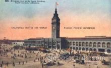 exp080218 - Ferry Building 1915 Panama International Exposition, San Francisco, California USA Postcard Post Card