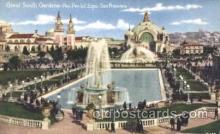 exp080241 - South Gardens 1915 Panama International Exposition, San Francisco, California USA Postcard Post Card