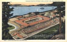 exp080270 - Live Stock Section and Stadium 1915 Panama International Exposition, San Francisco, California USA Postcard Post Card