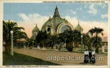 exp080345 - Festival Hall from Avenue of palms Panama-Pacific International Exposition,  San Francisco California USA, 1915 Postcard Post Card