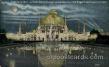 exp080347 - Palace of Horticuulture illuminated Panama-Pacific International Exposition,  San Francisco California USA, 1915 Postcard Post Card