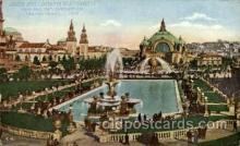 exp080363 - Lagoon and fountain in the south gardens Panama-Pacific International Exposition,  San Francisco California USA, 1915 Postcard Post Card