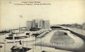 exp100072 - Chrysler Motors Building, Chicago Worlds Fair Exposition 1933 - 1934, Postcard Post Card