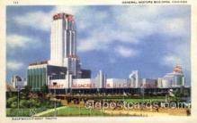 exp100086 - General Motors Building, Chicago Worlds Fair Exposition 1933 - 1934, Postcard Post Card