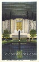 exp100140 - Travel Building 1933 Chicago, Illinois USA Worlds Fair Exposition Postcard Post Card