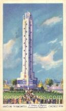 exp100143 - Havoline Thermometer 1933 Chicago, Illinois USA Worlds Fair Exposition Postcard Post Card