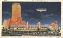 exp100152 - General Motors Building 1933 Chicago, Illinois USA Worlds Fair Exposition Postcard Post Card