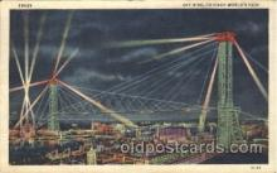 exp100154 - Sky Ride 1933 Chicago, Illinois USA Worlds Fair Exposition Postcard Post Card