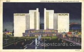 exp100156 - Chrysler Building 1933 Chicago, Illinois USA Worlds Fair Exposition Postcard Post Card
