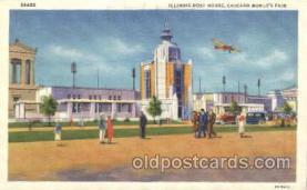 exp100161 - Illinois Host House 1933 Chicago, Illinois USA Worlds Fair Exposition Postcard Post Card