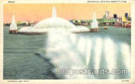 exp100163 - Fountain 1933 Chicago, Illinois USA Worlds Fair Exposition Postcard Post Card