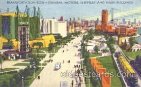 exp100164 - Transpotation Row 1933 Chicago, Illinois USA Worlds Fair Exposition Postcard Post Card