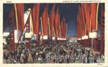 exp100165 - Avenue of Flags 1933 Chicago, Illinois USA Worlds Fair Exposition Postcard Post Card