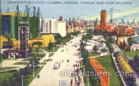 exp100167 - Transpotation Row 1933 Chicago, Illinois USA Worlds Fair Exposition Postcard Post Card